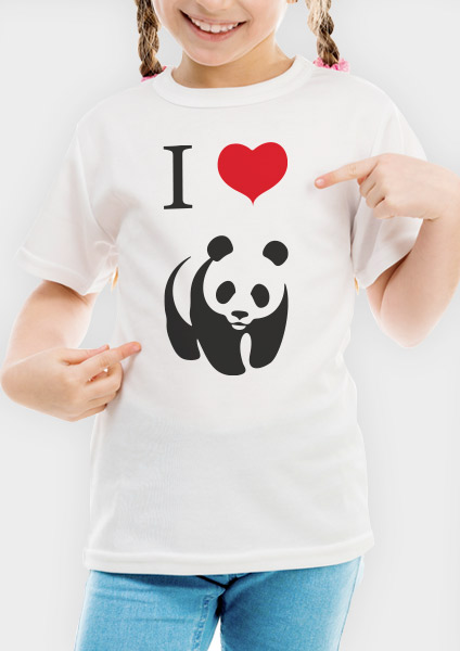T-shirt Junior - I Love Panda