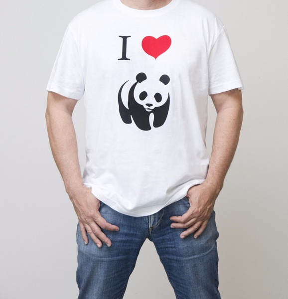 T-shirt Uomo - I Love Panda